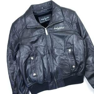 VTG 90's 00's Baby Phat Biker Style Leather Jacket